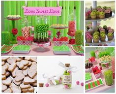 Bridal Shower Green & Pink