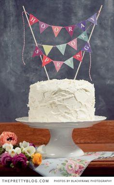 DIY Cake Toppers : Hooray for Spring! | DIYs | The Pretty Blog