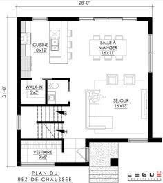 Future House, My House, Plan Chalet, Compact House, Home Design Plans, Tropical Houses, Small House Plans, Architecture Plan, Floor Plans