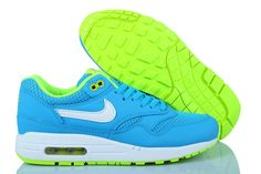 buy online c7b7d e1f1b Online Store UK Sale Nike Air Max 1 Lake Blue White Women Sneakers with a  Special Price
