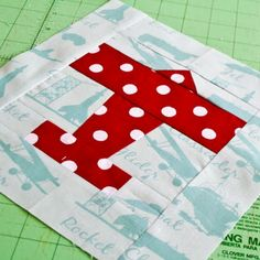 airplane quilt block