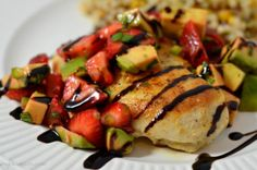 Chicken Cutlets With Strawberry, Avocado, and Basil Salsa from French Toast, Cheesecake, Salad, and 20 Other Recipes to Make With Berries
