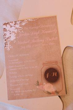 Rustic Wedding Invitations - A Champagne Blush Oklahoma Wedding - Meditations Event Center - From Britt's Eye View Photography Wedding Bride, Wedding Blog, Rustic Wedding, Wedding Planner, Wedding Programs, Wedding Invitations, Oklahoma Wedding, Floral Theme, Tie The Knots