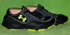 Under Armour Boys Stylish Charcoal Micro G Defend Training Shoes Size 7Y EUC #UnderArmour #Athletic