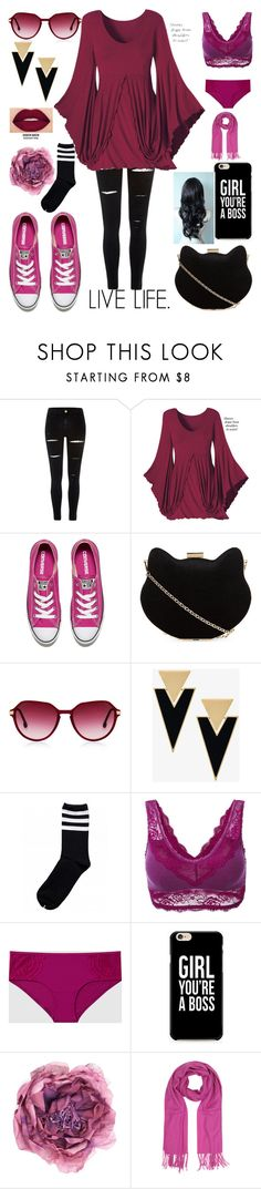 """""""Live Life. 😀 9.4.16. 😁"""" by ccatprvncess ❤ liked on Polyvore featuring River Island, Converse, New Look, Oliver Peoples, Yves Saint Laurent, Smashbox, La Senza, Caso, Gucci and Mila Schön"""
