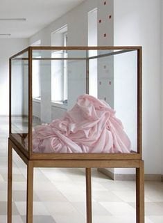 Pink Silk Object - James Lee Byars
