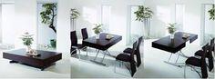 artetecta : Praticidade: mesa de centro que se transforma em mesa de jantar