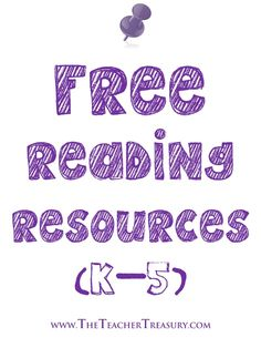Follow this Pinterest board for links to Free Reading Resources primarily for grades K-5!
