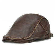 Gorra de béisbol de cuero genuino con orejeras en invierno para hombres - NewChic Móvil