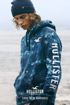 Take note. You'll be seeing graphics & logos everywhere this season. Get comfortable in new crazy soft hoodies & sweatshirts at Hollister.
