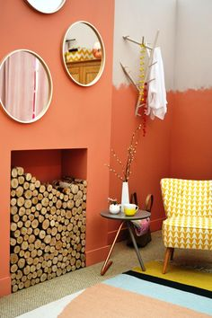 'Copper and clay' bedroom at the Ideal Home Show London Grand Designs Live, Ideal Home Show, Cosy Bedroom, Copper, Clay, Warm, London, Interior, Cozy Dorm Room