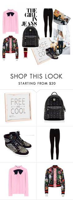 """""""Easy jeans"""" by testedonlyonhumans on Polyvore featuring MCM, Jimmy Choo, 7 For All Mankind, Prada, Gucci, Tom Ford, black, jeans, jimmychoo and backpack"""