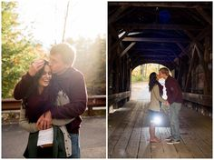 Covered Bridge Engagement Session Photos by Linda Barry Photography