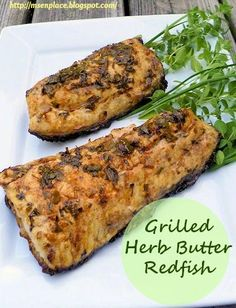 Lake Hermitage Marsh Creation and Grilled Herb Butter Redfish Grilled Fish, Grilled Seafood, Grilled Salmon, Grilling Recipes, Seafood Recipes, Cooking Recipes, Healthy Recipes, Grilling Ideas