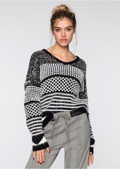 Sweter dzianinowy Atrakcyjny sweter • 79.99 zł • bonprix