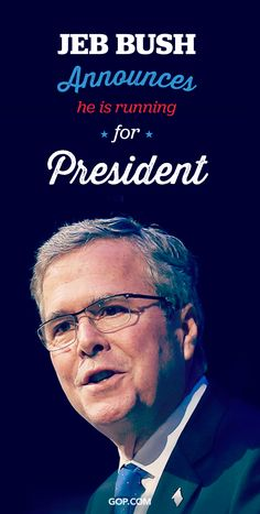 Welcome to the race Jeb Bush!  Tell us who you think has what it takes to win. Vote for your next Republican president in the 2016 GOP Straw Poll.