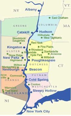 HUDSON VALLEY MAP Google Search