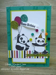 My Sandbox: January 2018 Panda Birthday, Kids Birthday Cards, Birthday Wishes, Kids Cards, Baby Cards, Bear Card, Panda Party, Masculine Birthday Cards, Stamping Up Cards