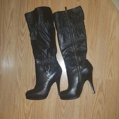 Black michael kors heel boots Black michael kors heel boots. In perfect condition! Michael Kors Shoes Heeled Boots