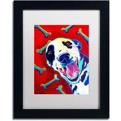 Trademark Fine Art Yum Canvas Art by DawgArt, White Matte, Black Frame, Size: 11 x 14