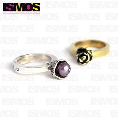ISMOS Joyería: anillos de plata con perla y bronce //ISMOS Jewelry: silver and pearl ring and bronze ring