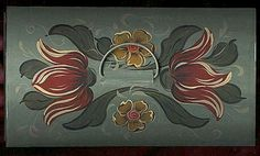 FREE Bauernmalerei, Decorative Painting Pattern - Tin Chest