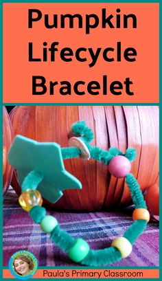 My students LOVE making this pumpkin life cycle bracelet each fall! It's super simple and inexpensive to make, but helps them remember exactly how a pumpkin grows - and it's a great conversation starter when their parents ask what they did at school! Teaching Main Idea, Teaching Ideas, Teaching Resources, We Are Teachers, First Grade Teachers, Kindergarten Learning, Preschool Class, Science Activities, Science Lessons