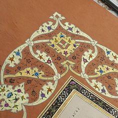 Tezhip#işlemelirumi#rûmi#illümination#gold#sanat#love#tasarım#köşe#color#ıslamicart#ottomanart#