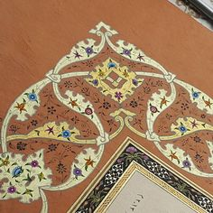 Tezhip#işlemelirumi#rûmi#illümination#gold#sanat#love#tasarım#köşe#color#ıslamicart#ottomanart# Teaching Art, Islamic Art, Bohemian Rug, Symbols, Ornaments, Rugs, Pattern, Instagram, Design