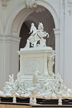 Model of an equestrian monument for King Augustus III.