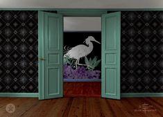 Egret Room with Violet + Aster Wallpaper by Sean Martorana by Sean Martorana seen at Creator's Studio, Philadelphia | Wescover