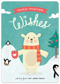 Polar Wishes Holiday Card   Guess What?