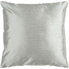 Metallic Silver Seafoam Pillow