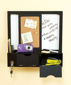Dry Erase Sliding Wall Combo Organizer|The Lakeside Collection