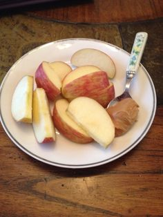 1 apple and natural peanut butter (1 purple and 1 teaspoon)