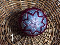 Dekorácie - vianočné patchworkové gule bordovo-strieborné so staroružovou - 7148736_