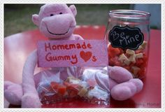 Homemade Gummy Hearts- sugar free and packed with fresh fruit from @Jenn Larson