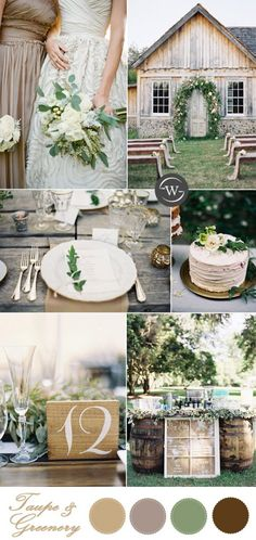 organic taupe and greenery garden wedding ideas