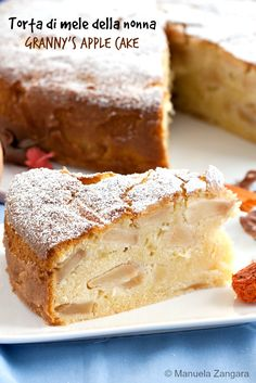 Torta di Mele della Nonna - a very classic #Italian style #apple #cake, soft, fruity, light and comforting.