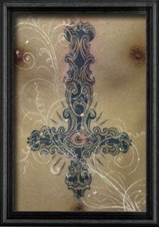 Lucky Round Tattoo studio, Osaka Japan / cross tattoo