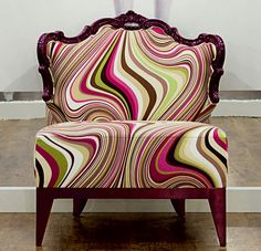 15 Pretty Vintage Chairs and Armchairs - Fox Home Design Funky Chairs, Vintage Chairs, Cool Chairs, Modern Chairs, Funky Furniture, Furniture Design, Eclectic Furniture, Living Room Chairs, Dining Chairs