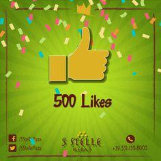 Boungiorno.  Siamo gia trovato 500 Mi Piace su nostro pagina di facebook. Grazie a tutti. Siamo Aperti oggi