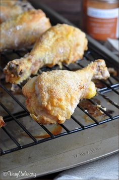 Chicken drumsticks marinated in buttermilk and Smoky Honey Habanero spice rub, then baked to perfection.