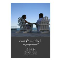 Modern Photo Save the Date Charcoal Custom Invitations This DealsOnline Secure Check out Quick and Easy...