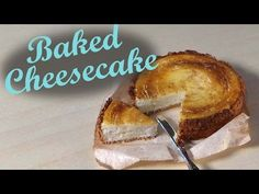 Polymer Clay Baked Cheesecake - Miniature Food Tutorial - YouTube