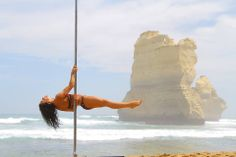 Pole Picture of the Day: Submitted by Lisa Vertical-Fitness aka Chastity at the Twelve Apostles in Melbourne, Australia. Photography by: Evgeny Greshilov (ya him!)  Submit yours at: www.badkitty.com/submit  #BKPPOD #BadKittyUSA #PoleFit #BadKittyPride
