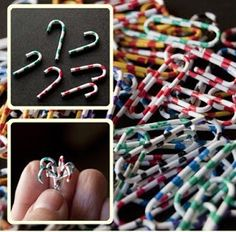 how to: candy canes from paper clips