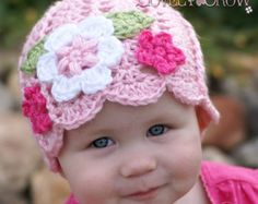 Floral Beanie pattern -  Etsy