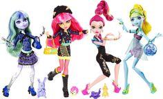 Poupée Monster High 13 Wishes - Twyla, Howleen, Gigi, Lagoona