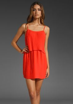 PARKER Pleated Dress in Coral at Revolve Clothing - Free Shipping!